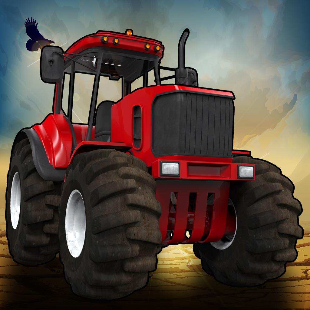 3D Crazy Monster Tractor Race - Desert Drag Racing Rally Free